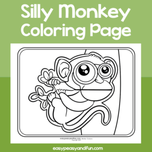 Coloring Page Silly Monkey