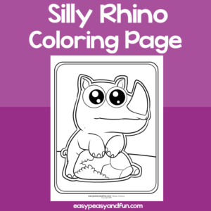 Coloring Page Silly Rhino