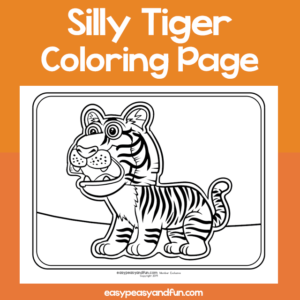 Coloring Page Silly Tiger