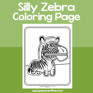 Coloring Page Silly Zebra