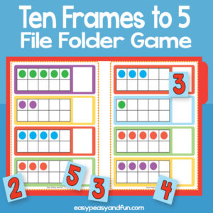 Counting to 5 ten frames file folder game