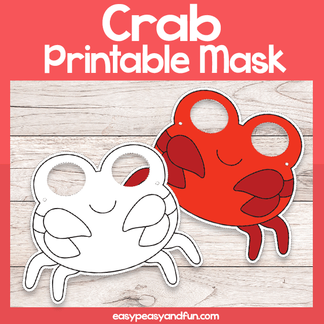 Crab Printable Masks
