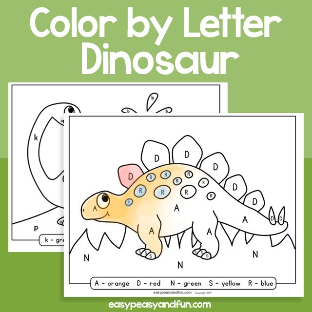 Dinosaur Color by Letter for Kids