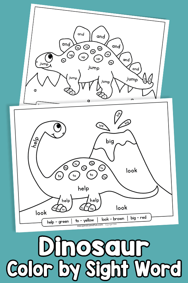 Dinosaur Color by Sight Word