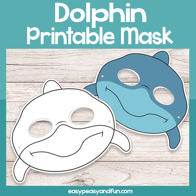 graphic regarding Printable Mask Templates titled Printable Dolphin Mask Template Uncomplicated Peasy and Exciting Subscription