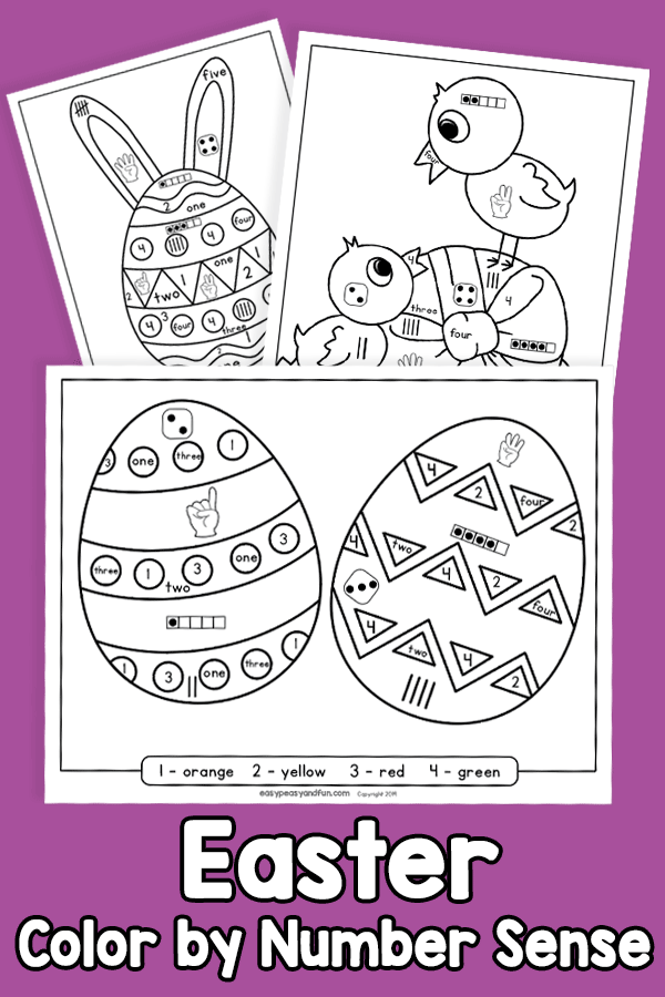 Easter Color by Number Sense