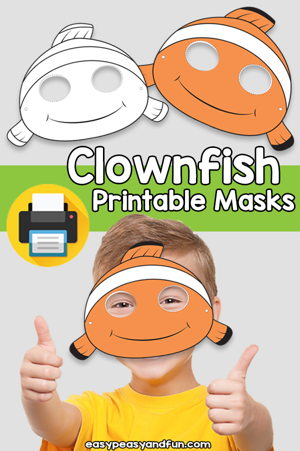 Printable Clownfish Mask Template