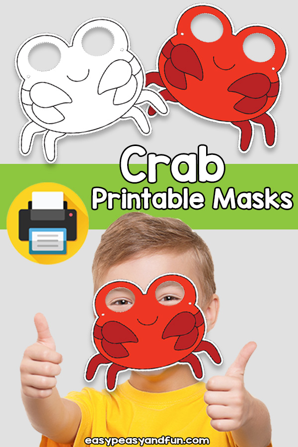 Printable Crab Mask Template