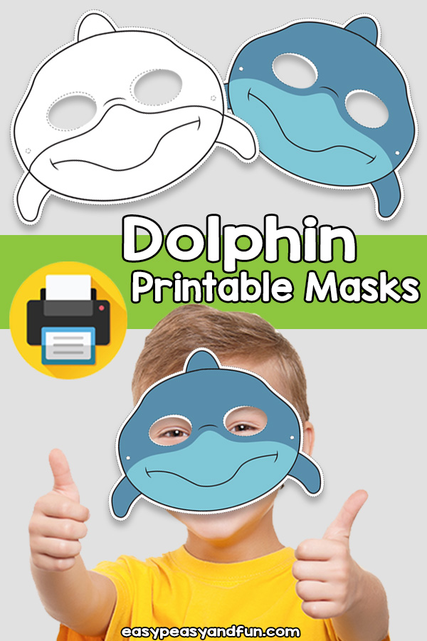 photograph regarding Printable Masks called Printable Dolphin Mask Template Uncomplicated Peasy and Enjoyment Subscription