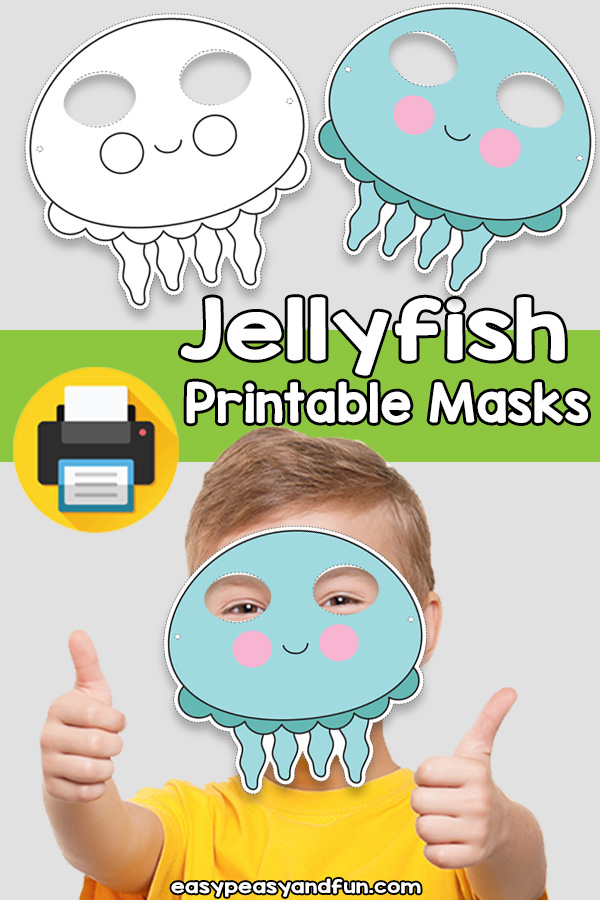 Printable Jellyfish Mask Template