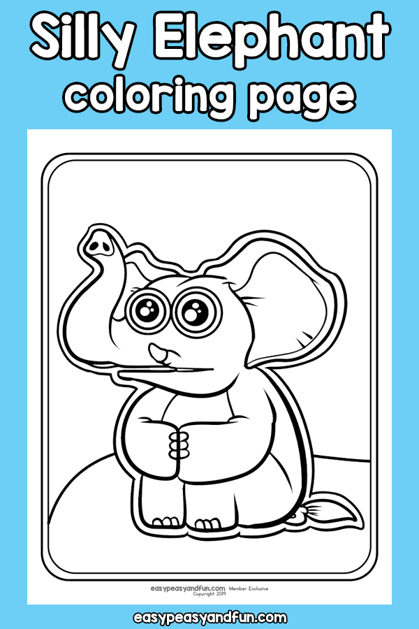 Silly Elephant Coloring Page