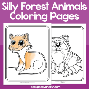 Silly Forest Animals Coloring Pages