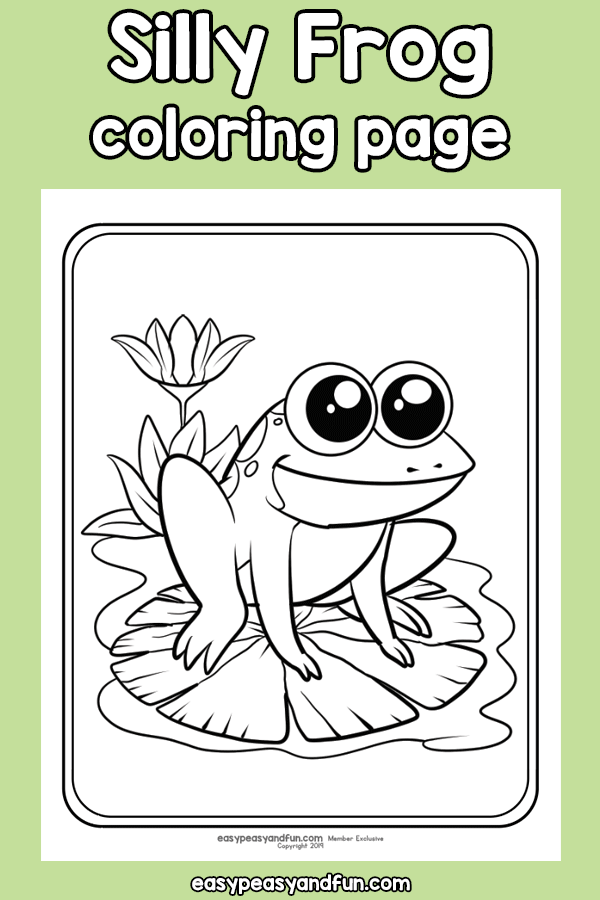 Silly Frog Coloring Page