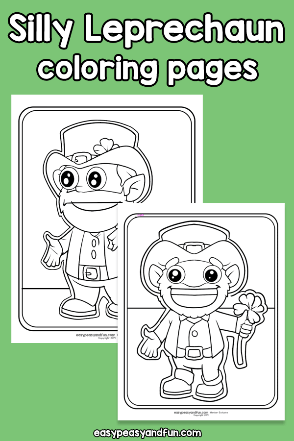 Silly Leprechaun Coloring Pages