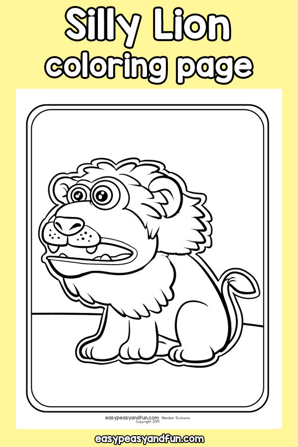 Silly Lion Coloring Page