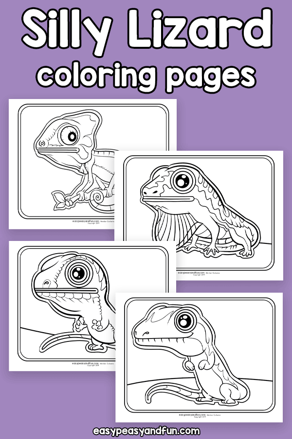Silly Lizard Coloring Pages