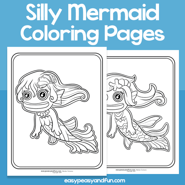 Silly Mermaid Coloring Pages for Kids