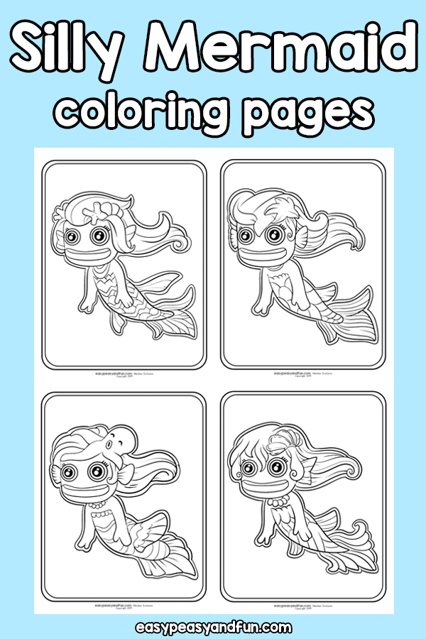 Silly Mermaid Coloring Pages
