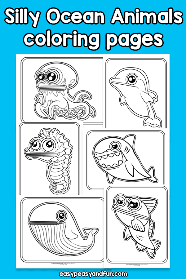Silly Ocean Animals Coloring Pages