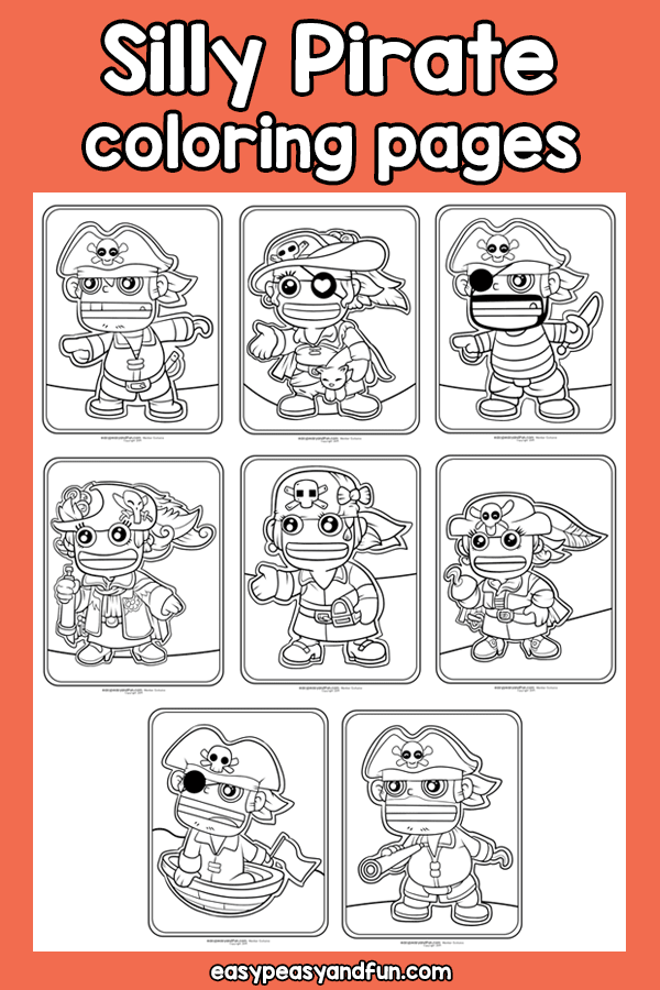 Silly Pirate Coloring Pages
