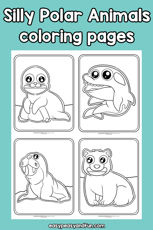 Silly Polar Animals Coloring Pages