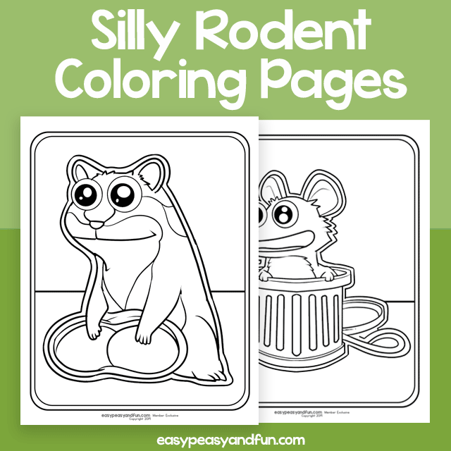 Silly Rodent Coloring Pages