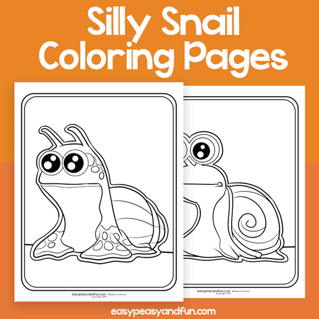 Silly Snail Coloring Pages