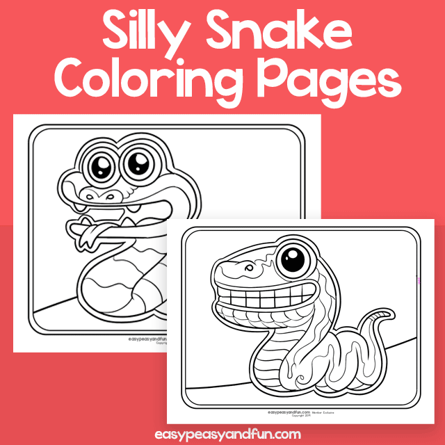 Silly Snake Coloring Pages