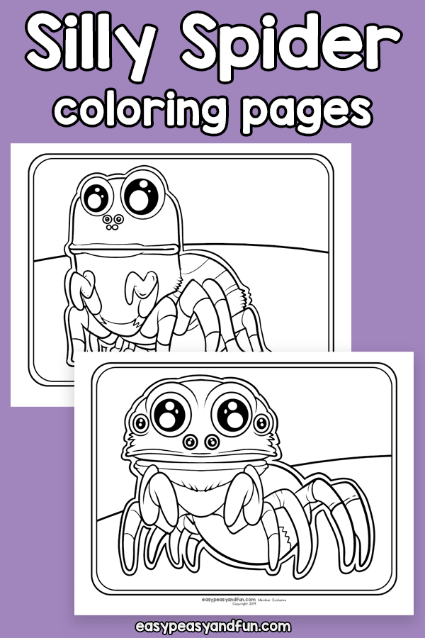 Silly Spider Coloring Pages Easy Peasy And Fun Membership