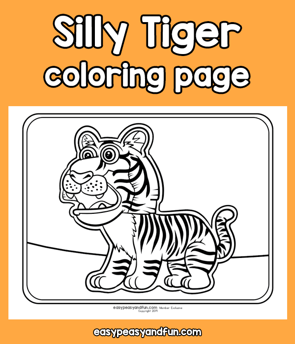 Silly Tiger Coloring Page