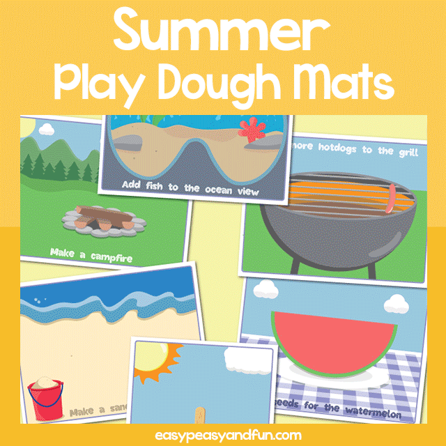 Summer Play Dough Mats
