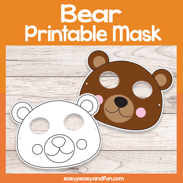 graphic relating to Printable Bear Mask named Printable Go through Mask Template Basic Peasy and Entertaining Subscription