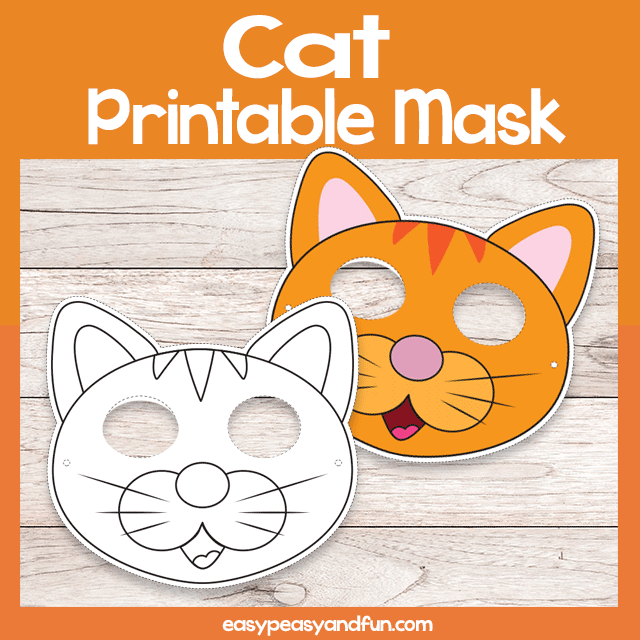 graphic relating to Cat Mask Printable identify Crafts Webpage 4 Straightforward Peasy and Exciting Subscription