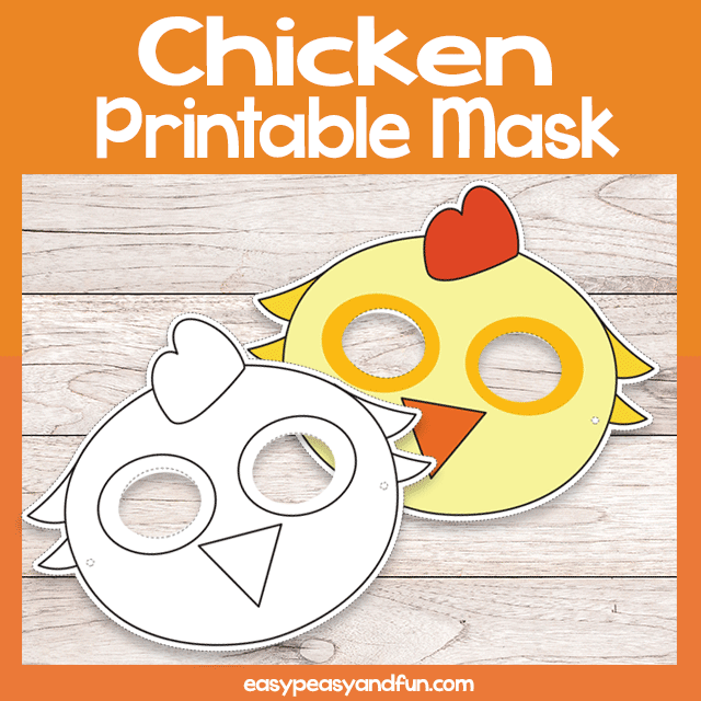 photograph regarding Chicken Template Printable named Printable Chook Mask Template Uncomplicated Peasy and Enjoyment Subscription