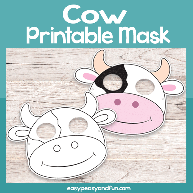 graphic regarding Printable Cow Mask identified as Printable Cow Mask Template Simple Peasy and Entertaining Subscription