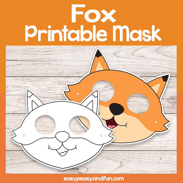 picture relating to Printable Fox Masks named Printable Fox Mask Template Simple Peasy and Entertaining Subscription