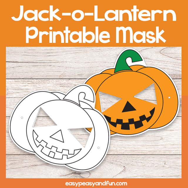 picture relating to Printable Jackolantern identified as Printable Jack-o-Lantern Mask Template Straightforward Peasy and Entertaining