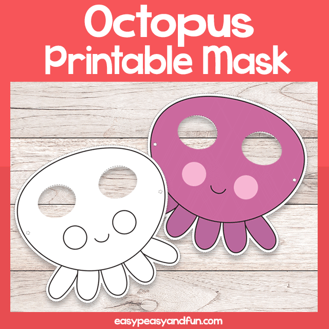 picture relating to Printable Octopus titled Printable Octopus Mask Template Very simple Peasy and Exciting Subscription