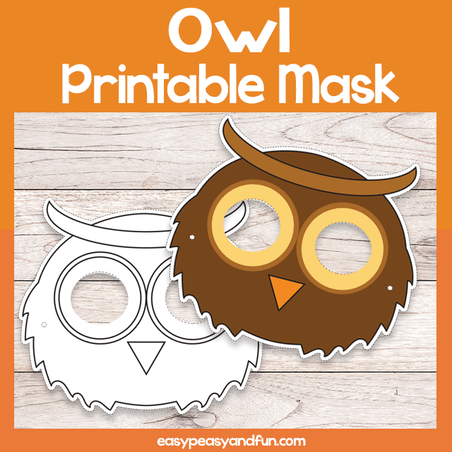 Owl Printable Mask
