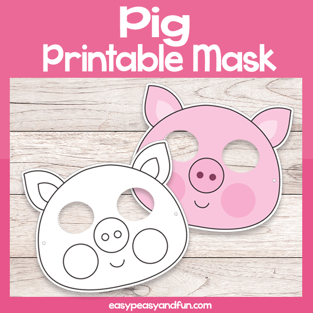 image relating to Printable Pig titled Printable Pig Mask Template Uncomplicated Peasy and Exciting Subscription