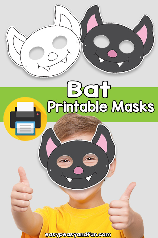Printable Bat Mask Template