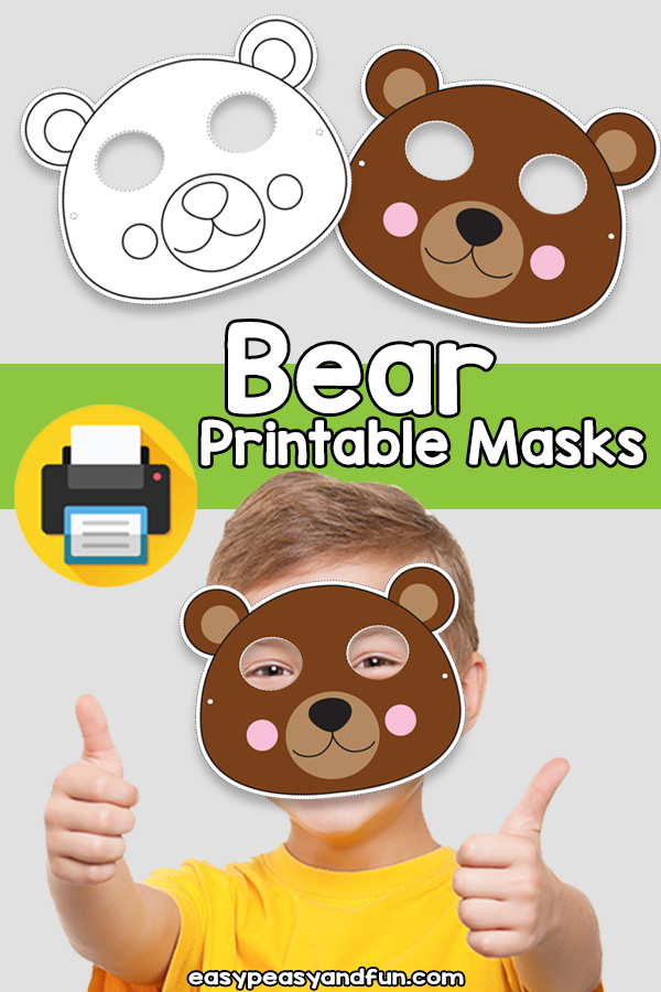 photo about Printable Bears Schedule referred to as Printable Undertake Mask Template Straightforward Peasy and Enjoyable Subscription