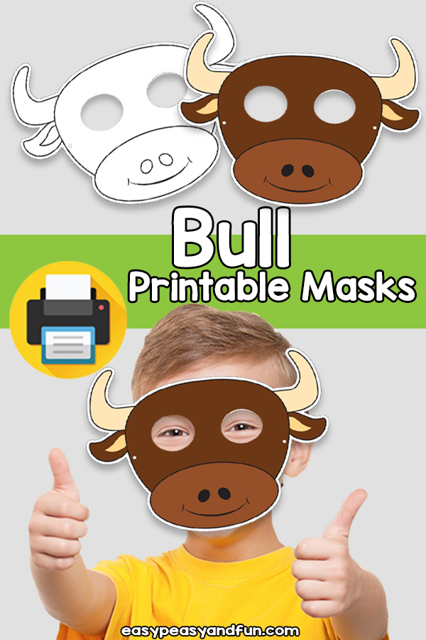 Printable Bull Mask Template