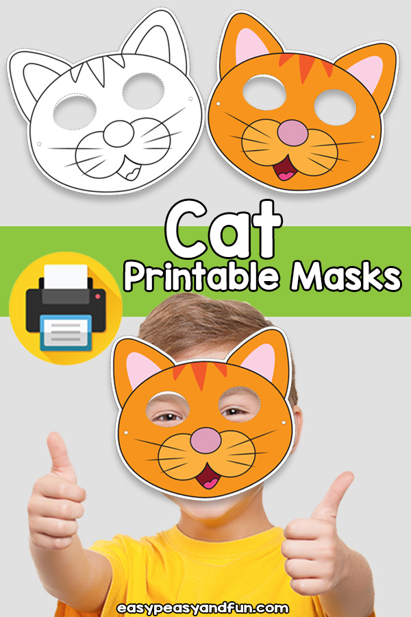 Printable Cat Mask Template