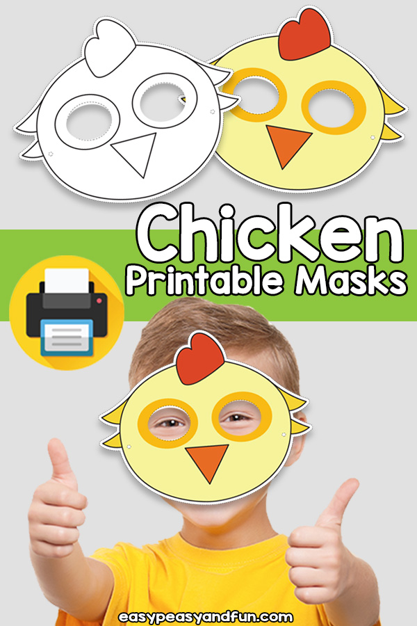 Printable Chicken Mask Template
