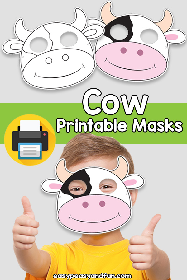 image regarding Printable Cow Mask identify Printable Cow Mask Template Uncomplicated Peasy and Exciting Subscription