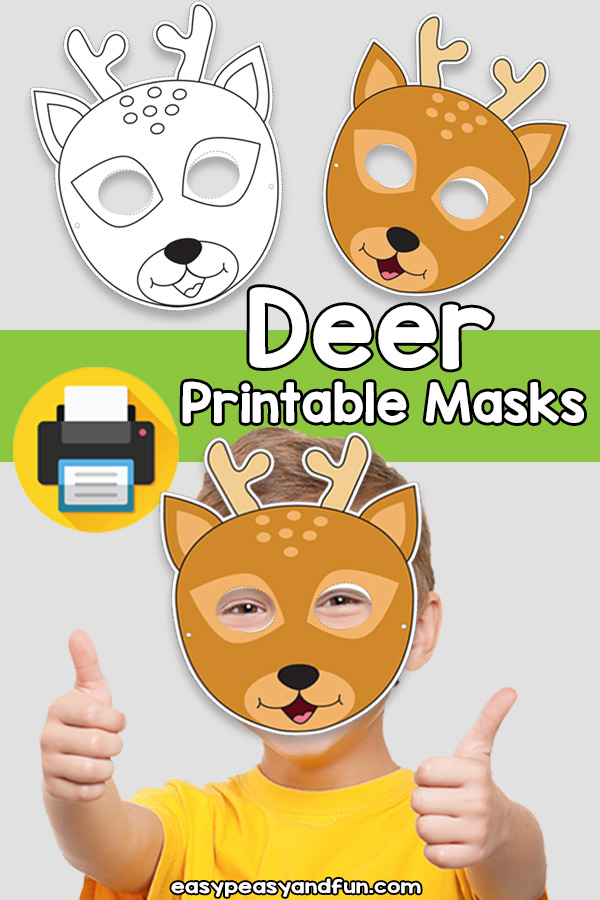 Printable Deer Mask Template
