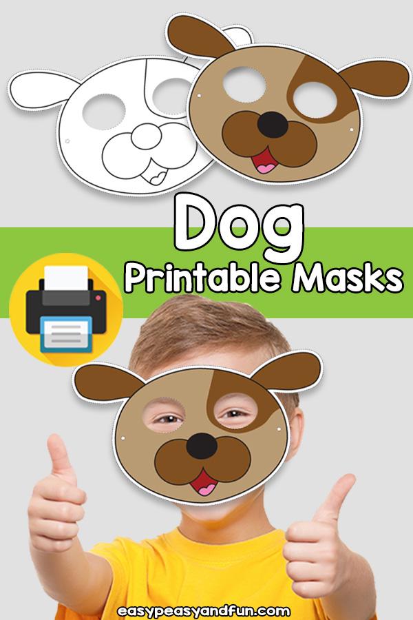 Printable Dog Mask Template