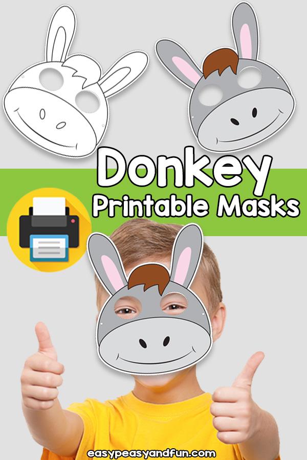 Printable Donkey Mask Template