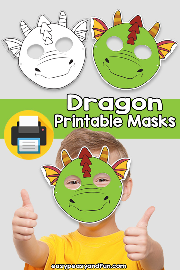 Printable Dragon Mask Template